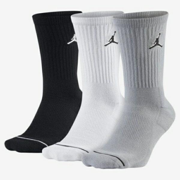 NIKE JORDAN 三雙一組 黑白灰 襪子 中筒襪 籃球襪 長襪 小腿襪 (布魯克林) SX5545-019