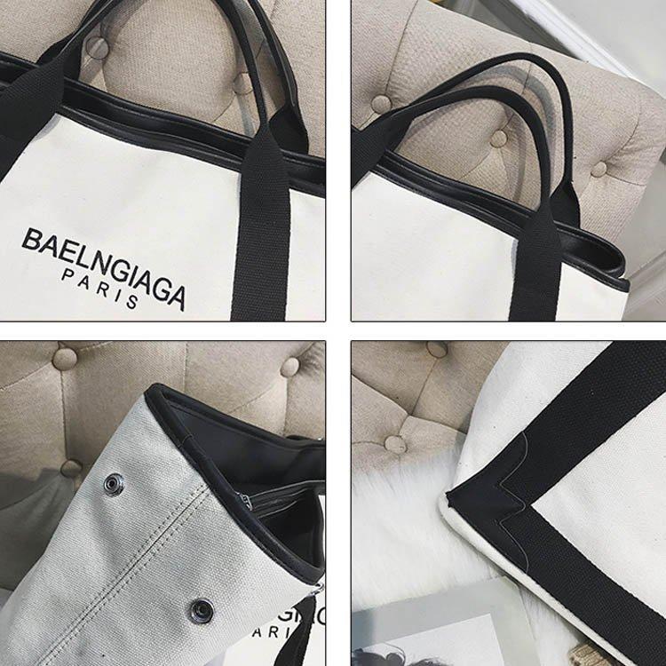 帆布包-大包包新款歐美明星同款帆布包單肩包斜背包側背包大容量手提包 7