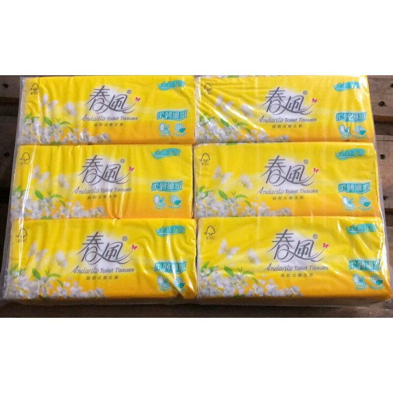 春風抽取式衛生紙100抽6包10串整箱免運