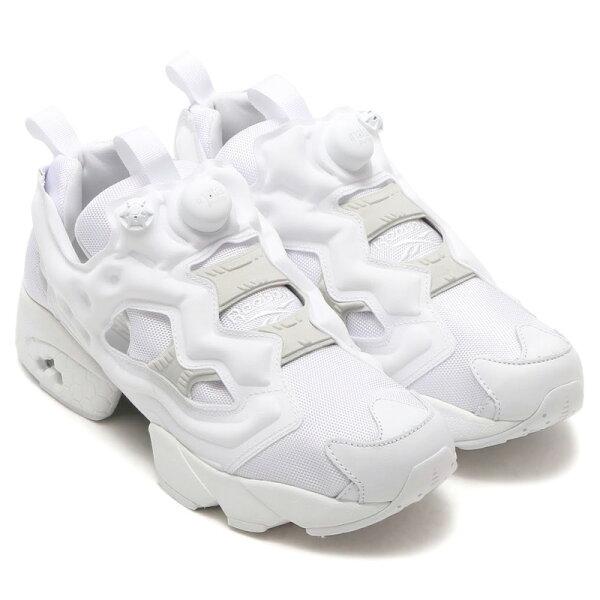 REEBOKINSTAPUMPFURY男鞋女鞋休閒訓練經典充氣支撐舒適白【運動世界】AR2199