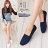 格子舖*【ANW512】MIT台灣製 素面經典帆布透氣皮革 平底包鞋 懶人樂福鞋 豆豆鞋 4色 0