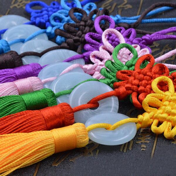 玉幣中國結 中國繩結吊飾 流蘇吊飾配件掛飾 裝飾DIY手工藝節慶裝飾 贈品禮品
