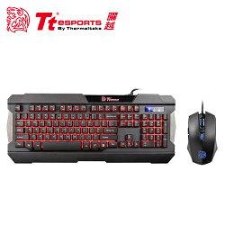 Tt eSPORTS 曜越 軍令官 三色電競鍵盤滑鼠組【三井3C】