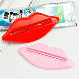 潘朵拉綠色生活概念館:【挪威森林】韓國多用途擠牙膏器-紅唇款(1入2色裝)