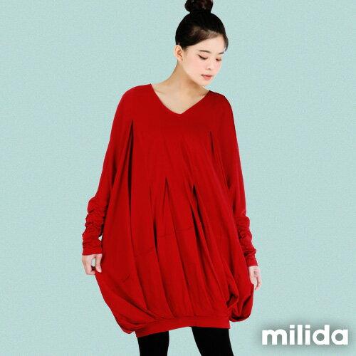 【Milida,全店七折免運】-秋冬單品-洋裝款-飛鼠袖休閒風
