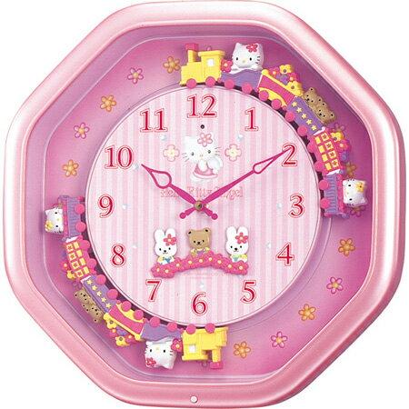X射線【C183982】HelloKitty 整點報時音樂掛鐘(粉火車),時鐘/掛鐘/壁鐘/座鐘/鬧鐘/鐘錶/手錶/潛水錶