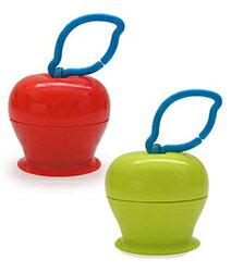 美國Grapple矽膠創意小物三爪玩具俏吸盤-紅蘋果+青蘋果★衛立兒生活館★