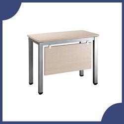 【必購網OA辦公傢俱】TSA-90 白橡木側桌 烤銀方形4E 辦公桌