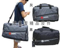 ~雪黛屋~CONFIDENCE 旅行袋大容量髒濕衣物分離輕巧好收納 U型大開口方便取放大型物品台灣製造ACB8261
