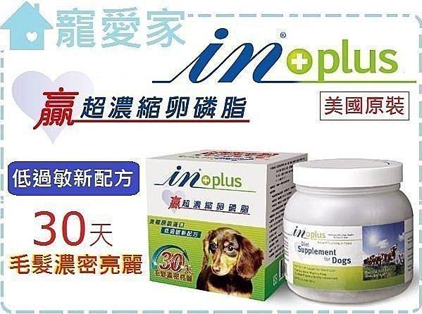 ☆寵愛家☆可超取☆IN-PLUS 贏 犬用超濃縮卵磷脂-350公克,低過敏新配方 .