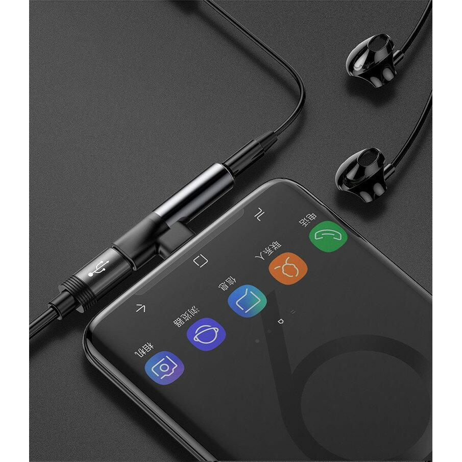 「支援同時充電+耳機」Type-C(輸入)手機to Type-C母座+3.5mm耳機轉接頭(不帶線) 4