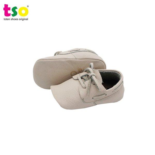 pregshop孕味小舖《台灣TSO》米色真皮綁帶寶寶鞋
