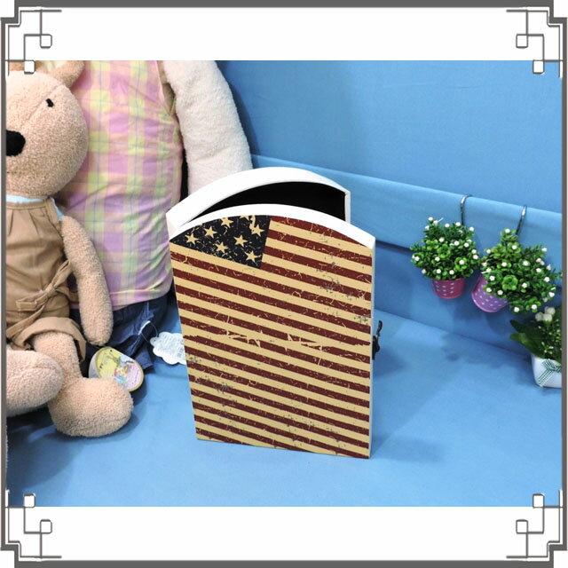 皮革KEY BOX《LK11-2》美國國旗木製皮革鑰匙盒 收納盒 壁櫃 壁飾 英倫風家飾◤彩虹森林◥