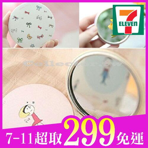 【7-11超取299免運】韓國 甜美可愛小鏡子 手繪創意鏡 化妝鏡 隨身鏡
