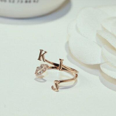玫瑰金戒指鑲鑽銀飾-唯美氣質母親節生日情人節禮物女飾品73by62【獨家進口】【米蘭精品】
