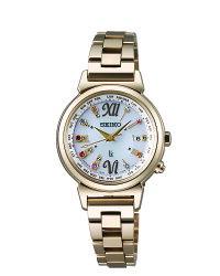 SEIKO 精工 LUKIA 綺麗旅程 限量款 太陽能電波腕錶女錶 金 1B25-0AN0K(SSVV026) 28mm