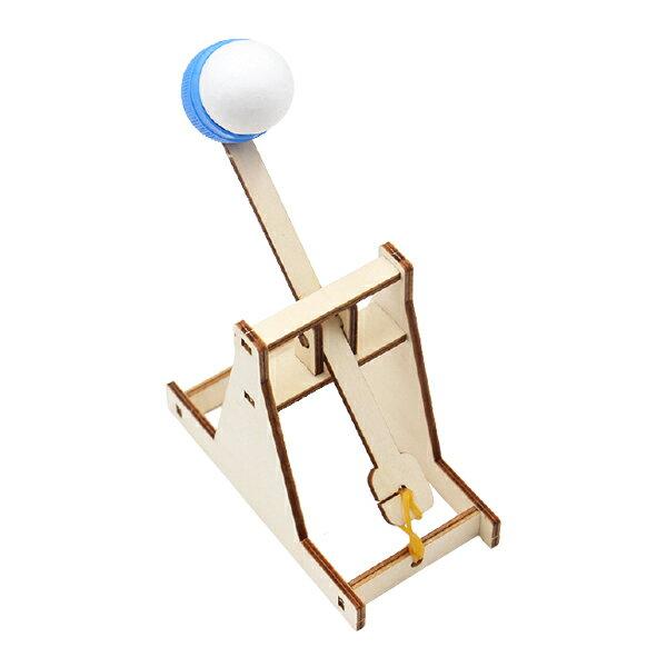 DIY投石器 木製投石機投擲器材料包 大人科學實驗 環保節能組合DIY玩具 贈品禮品