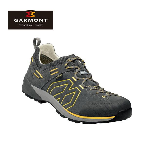 GARMONT男款Gore-Tex低筒郊山健走鞋SantiagoLowGTX481241212深灰黃城市綠洲(登山鞋、GORETEX、防水、黃金大底)