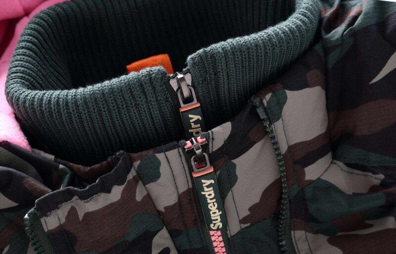 [女款]outlet正品 代購 英國極度乾燥 Superdry Arctic 女款 休閒三層拉鍊連帽保暖防風外套 迷彩/粉色 2