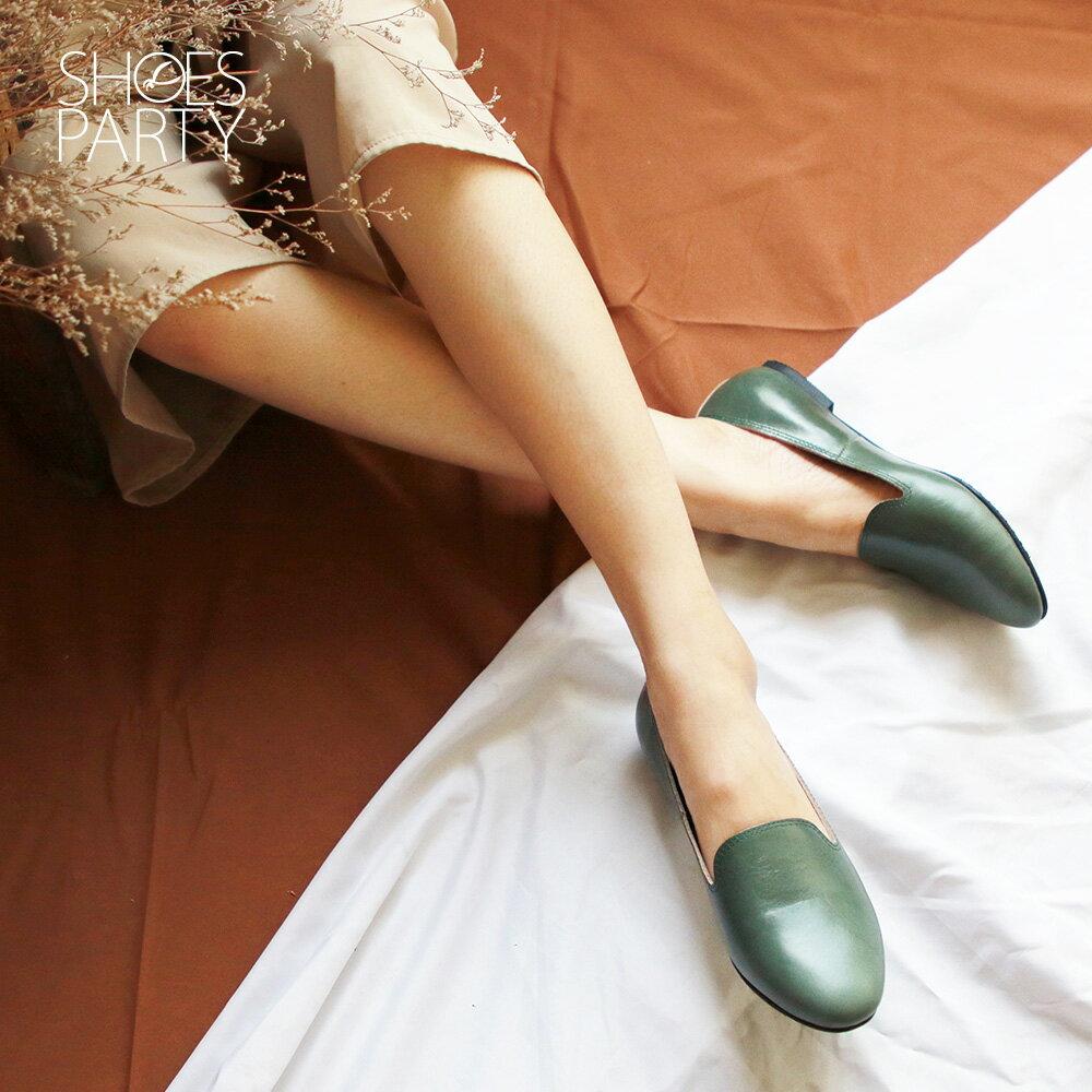 【C2-19908L】素面真皮歐貝拉_Shoes Party 2