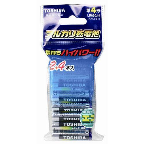 <br/><br/>  東芝 鹼性電池3號 12+4入/組【愛買】<br/><br/>