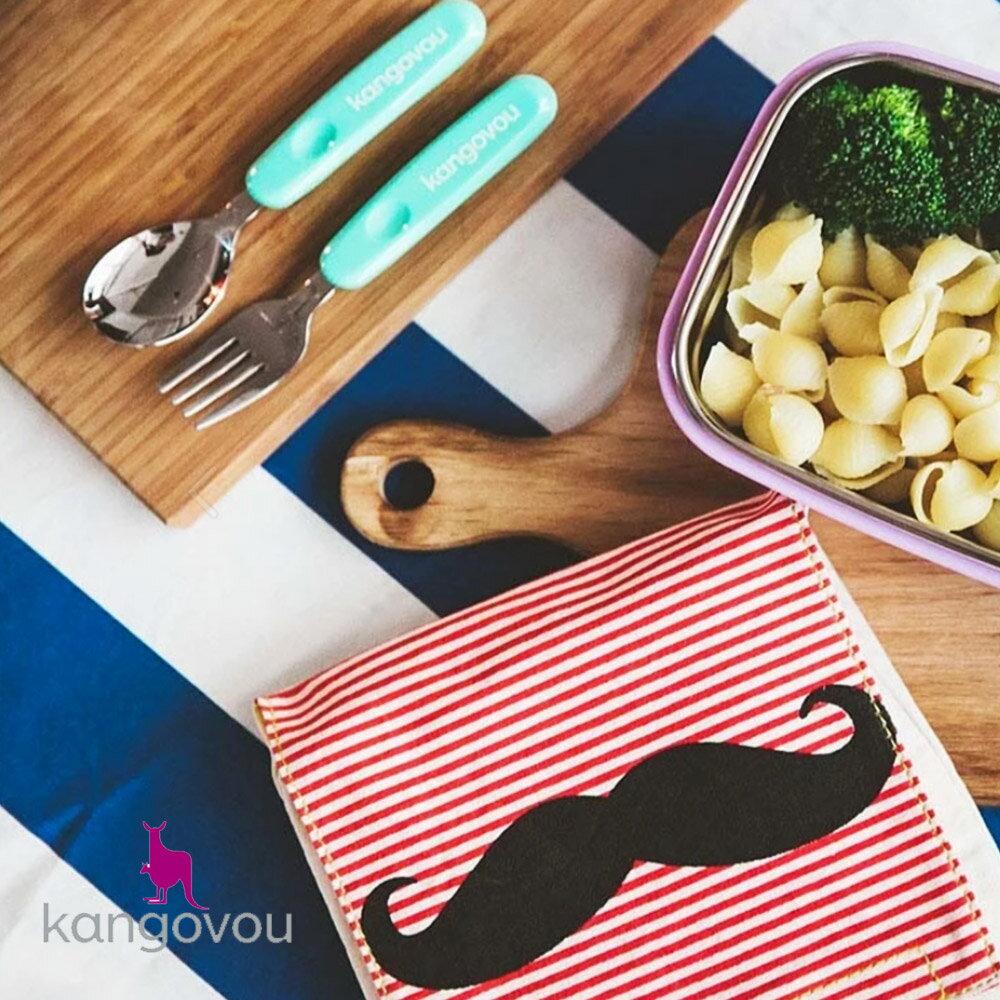 【kangovou】美國小袋鼠不鏽鋼安全 寶寶餐盒-珊瑚粉 2