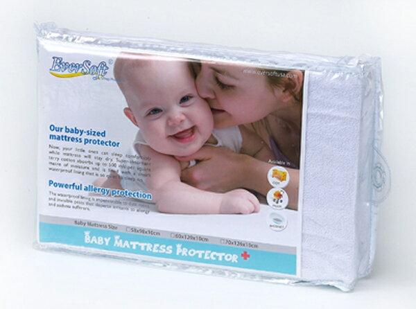 【100%防螨、防水、透氣-全包式嬰兒床保潔墊 (60x120x10cm)】美國Ever Soft防蹣寢具 純棉 抗菌 5217SHOPPING