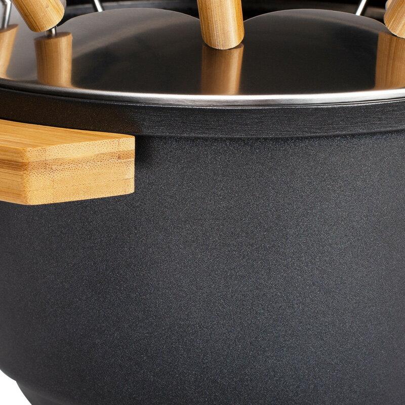 【PRINCESS】荷蘭公主 陶瓷料理鍋 / 黑 173026 (加贈油炸籃.調味罐.計時器) 5