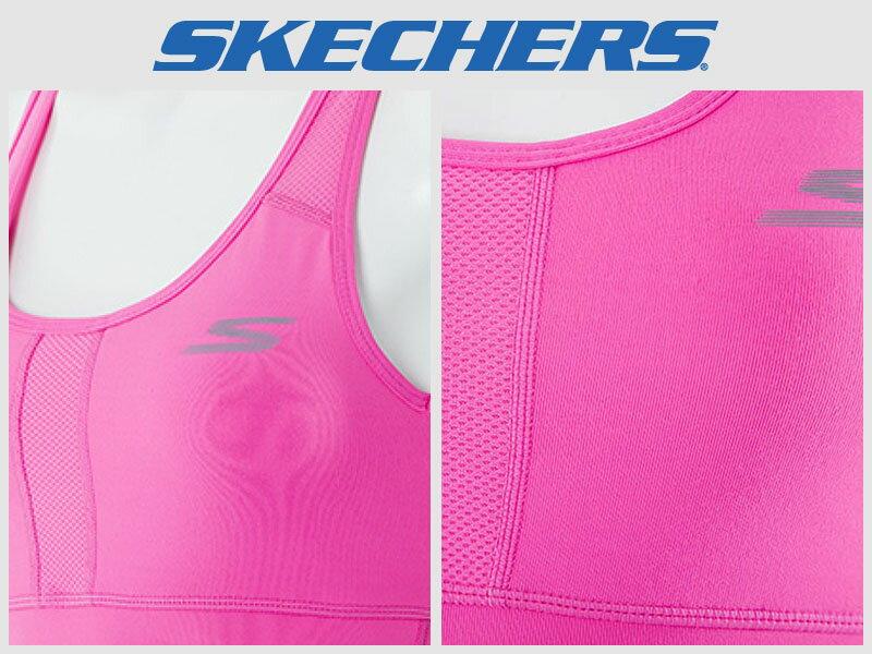 Shoestw【GWPBR680HTPK】SKECHES 運動內衣 彈性排汗衣 桃紅 透氣 素面 1