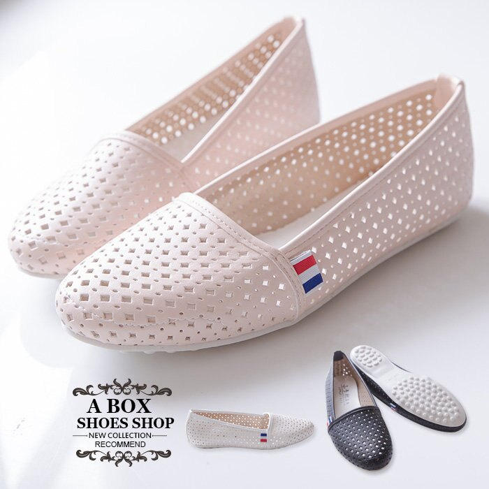 【ANW506】MIT台灣製 嚴選豆豆鞋 簡約舒適透氣洞洞皮革 懶人鞋 娃娃鞋 圓頭包鞋 3色