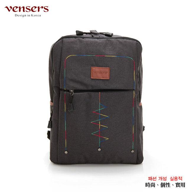 【vensers】簡約丹寧牛仔後背包(R00066301黑色) 0