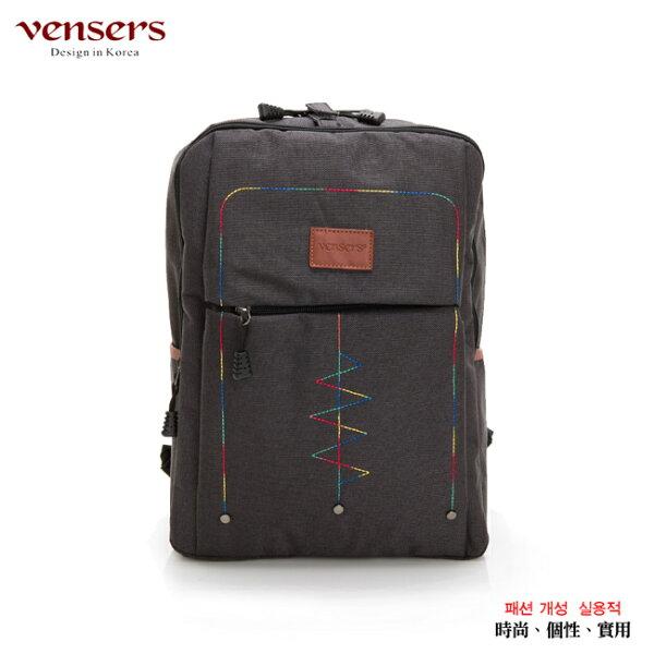 【vensers】簡約丹寧牛仔後背包(R00066301黑色)
