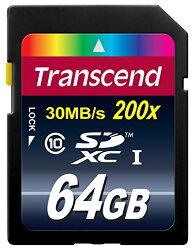 創見 Transcend SDXC/SDHC Class 10 (進階主流款) 64GB 記憶卡 產品型號: TS64GSDXC10