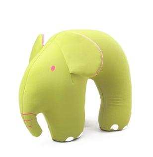 美麗大街【BF318E27E863】維維熊冰涼粒子立體動物造型U型枕(長鼻象)