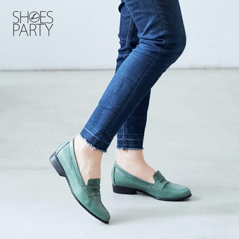 【 P2-17120L 】經典真皮樂福鞋_Shoes Party 6
