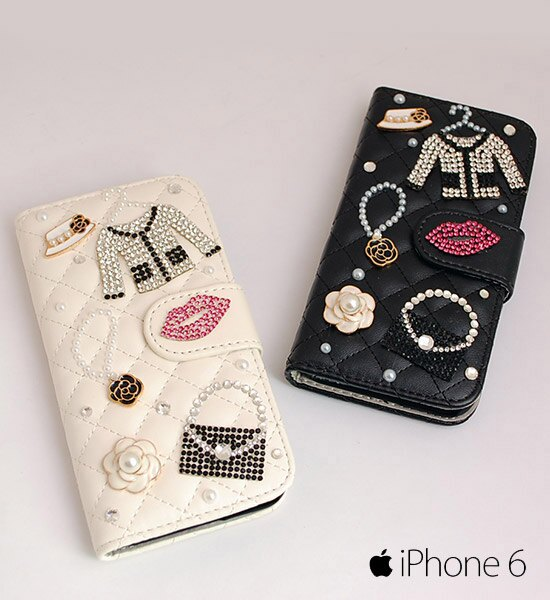 俏皮水鑽I Phone6皮套【I Phone6】Stone Icon Leather Case