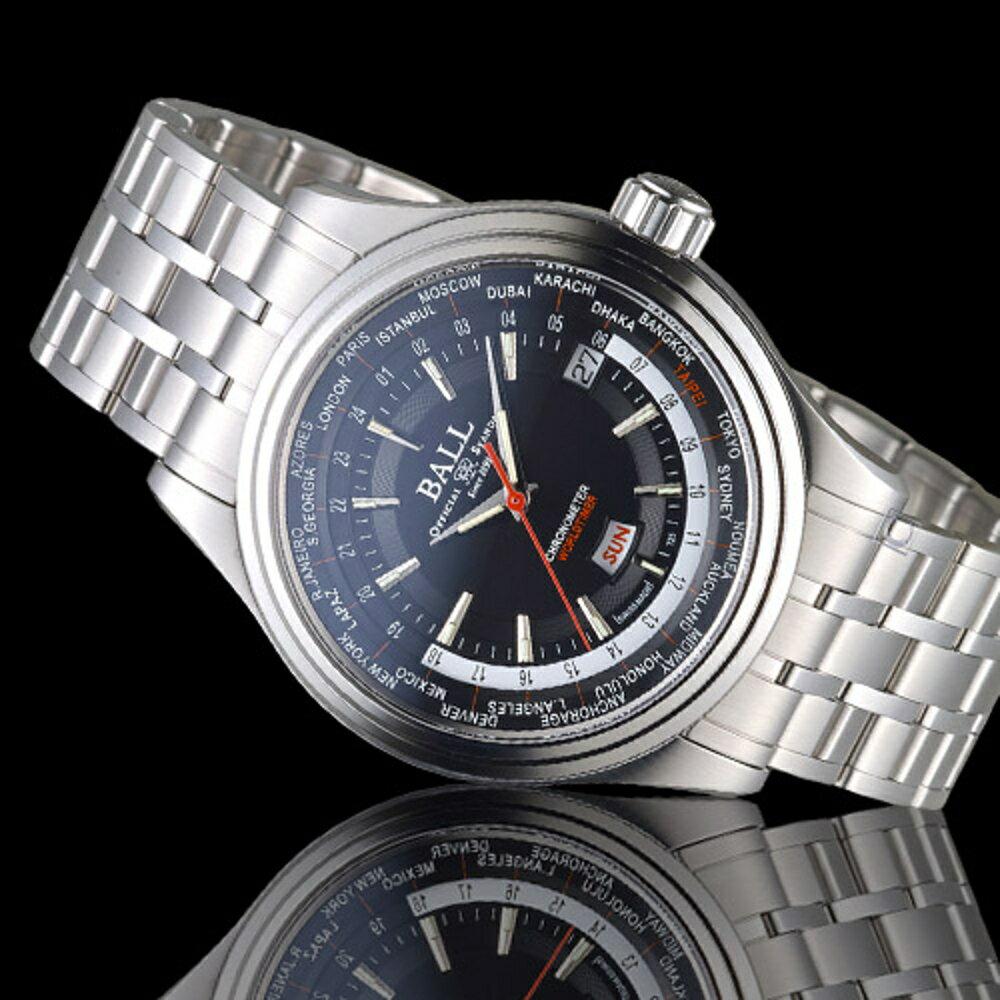 BALL 波爾錶 Trainmaster Worldtime天文台認證機械腕錶 GM2020D-S2CJ-BK