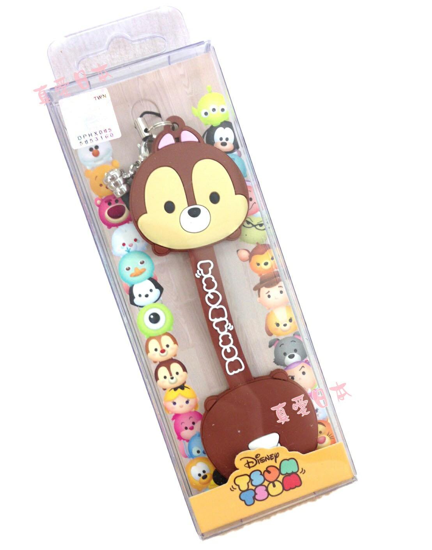 【真愛日本】16072200006吊飾捲線器-奇奇  迪士尼 花栗鼠 奇奇蒂蒂 松鼠 耳機集線器 收線器 正品