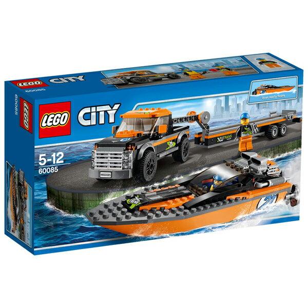 ~LEGO 樂高積木~City 城市系列 ~ 4x4汽艇 LT~60085
