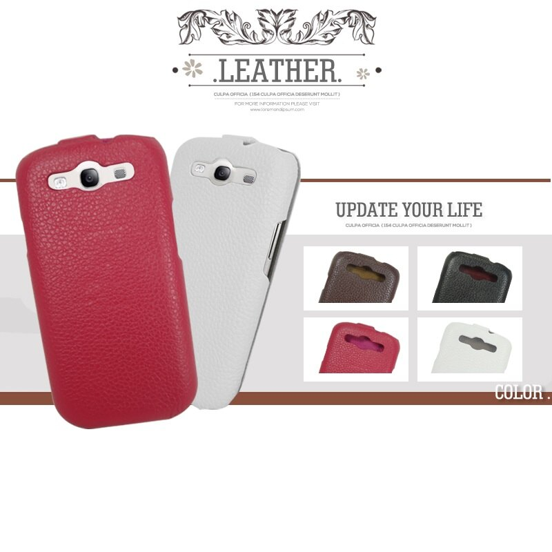 LEATHER SAMSUNG Galaxy S3 i9300 上下掀 真皮皮套/真皮手工製品/掀蓋盔甲皮套/保護套/保護殼