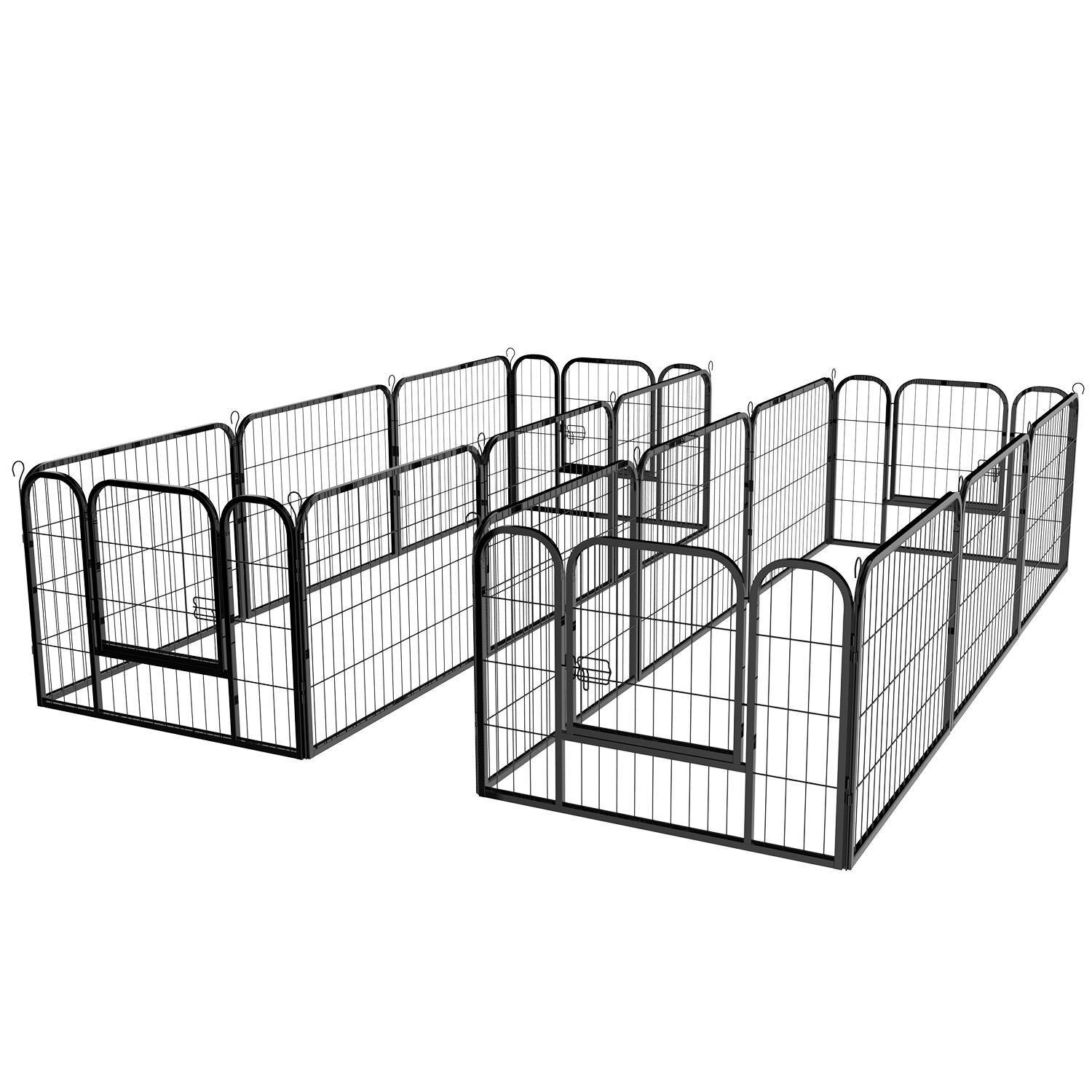 16 Panel Large Metal Pet Dog Cat Exercise Barrier Fence Cage 3