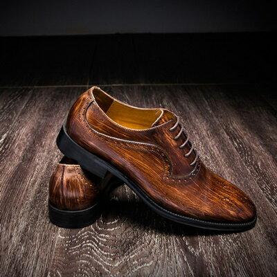 短靴真皮繫帶靴子-巴洛克雕花英倫風牛津男靴3色73kk104【獨家進口】【米蘭精品】