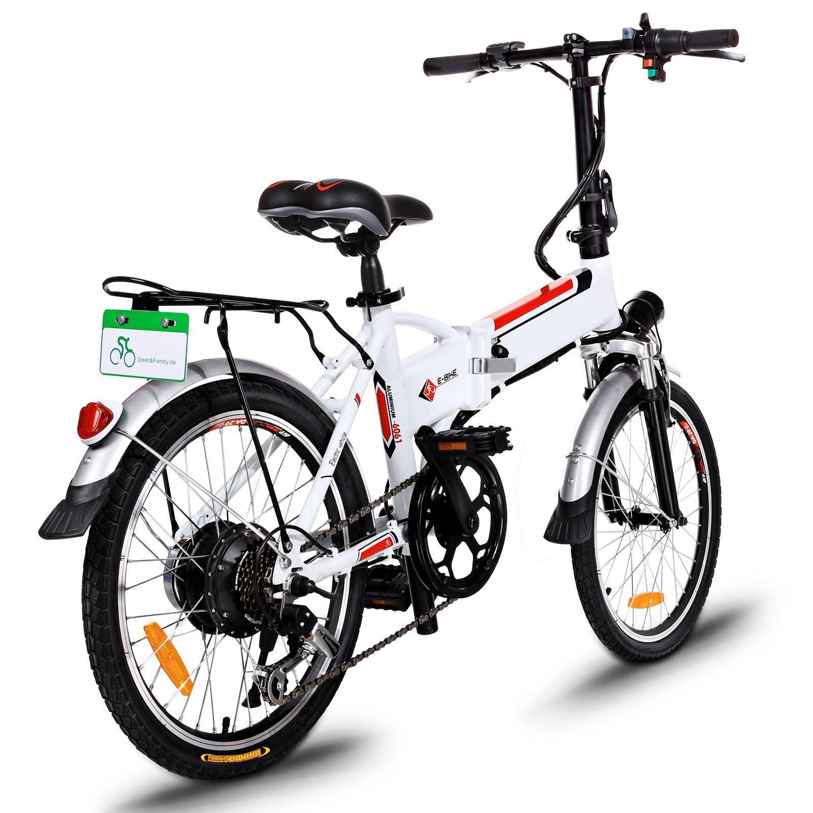 18.7 inch Wheel Aluminum Alloy Frame Folding Mountain Bike Cycling Bicycle White 1