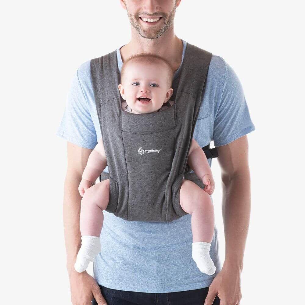 Ergobaby Embrace環抱二式初生嬰兒揹巾/揹帶-灰色