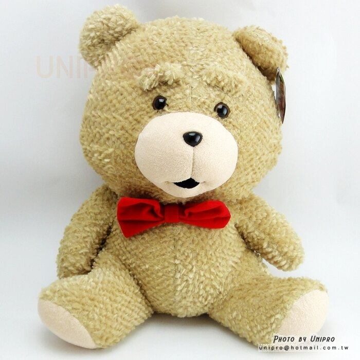【UNIPRO】熊麻吉 蝴蝶結熊 坐姿 絨毛玩偶 娃娃 無辜熊 生日禮物 領結熊
