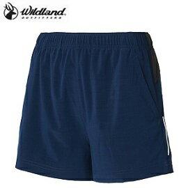 [WILDLAND荒野]女四彈透氣抗UV短褲藍W1505-72