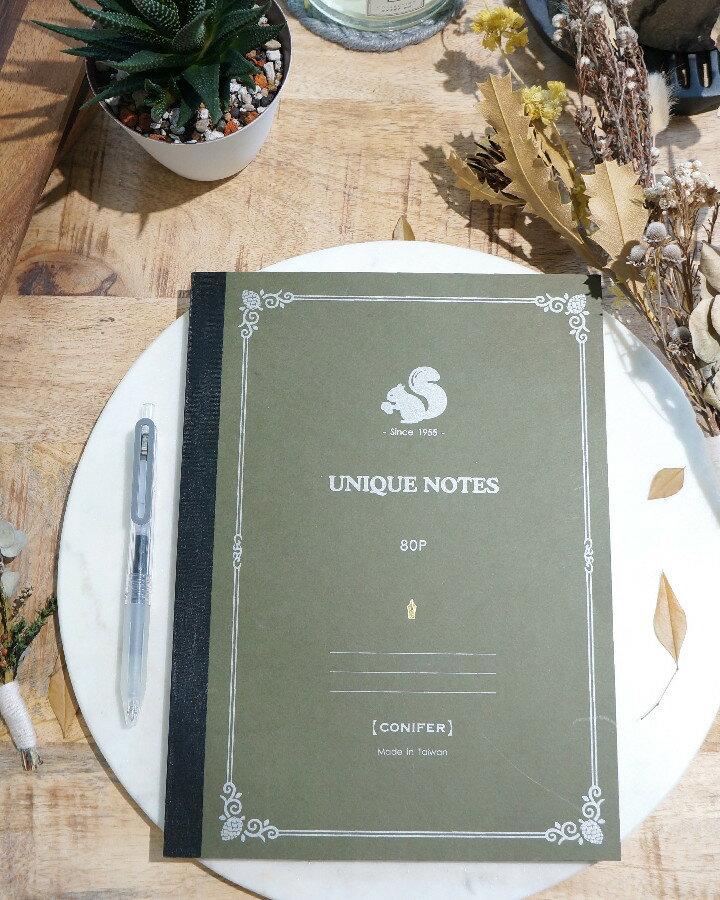 綠的事務用品Conifer松鼠系列鋼筆筆記本_B5方格4色可選-即將到貨