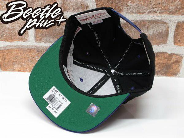 BEETLE PLUS 全新MITCHELL&NESS NBA BUCKS SNAPBACK 密爾瓦基 公鹿隊 黑紫綠 後扣棒球帽 MN-333 2