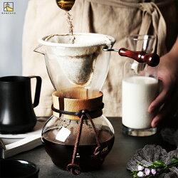 半房雜貨 美式法蘭絨咖啡濾泡手衝壺 帶濾網免濾紙耐高溫玻璃滴濾壺