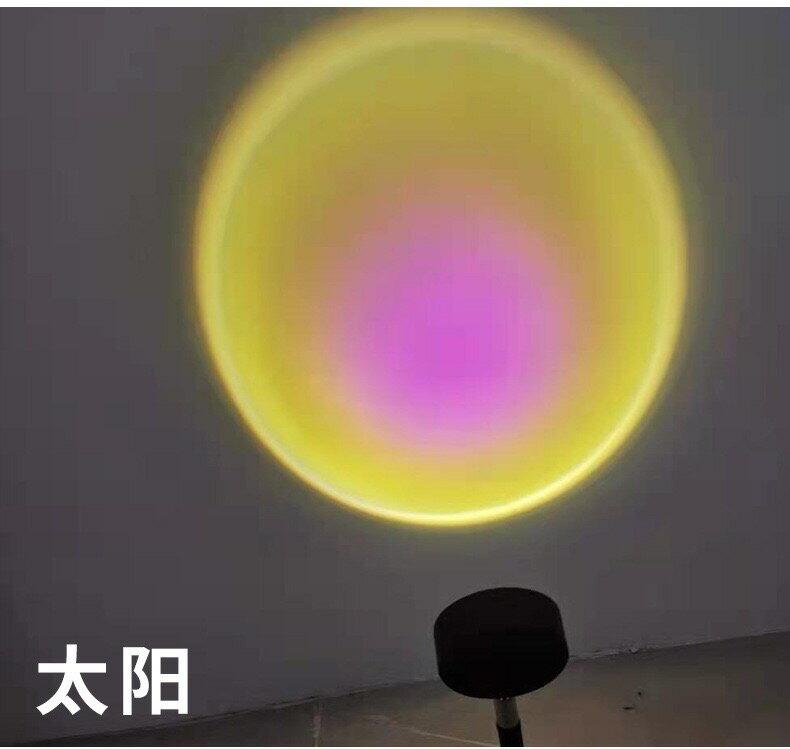 投影燈 貝殼彩虹燈投影儀製造機七彩浪漫夢幻床頭網紅拍照抖音星空小夜燈T